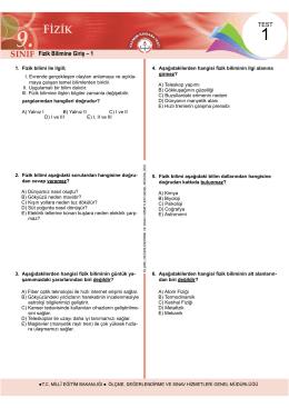 Fizik Testleri 12 Test