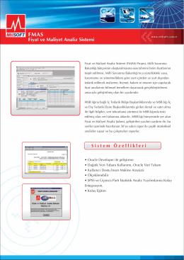 FMAS Fiyat ve Maliyet Analiz Sistemi