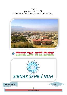 okullar hayat olsun projesi - Şırnak Milli Eğitim Müdürlüğü
