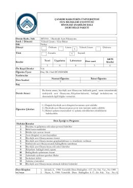BIY554 Biyolojik Azot Fiksasyonu