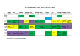 2015-2016 Güz Dönemi Biyoloji Bölümü Final Sınav Programı