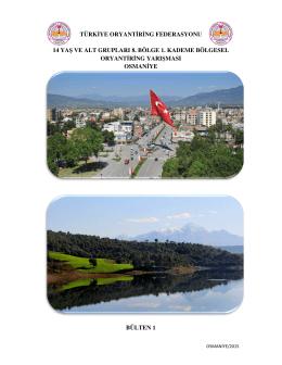 türkiye oryantiring federasyonu 14 yaş ve alt grupları 8. bölge 1