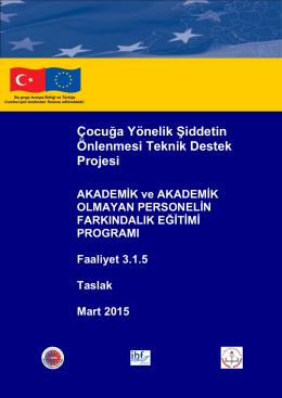 Eğitici ve Eğitici Olmayan Personele Yönelik Eğitim Programı