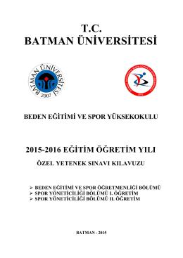 T.C. BATMAN ÜNİVERSİTESİ