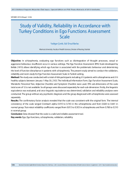Study of Validity, Reliability in Accordance with Turkey
