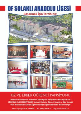 katalog - TRABZON / OF / Of Solaklı Anadolu Lisesi