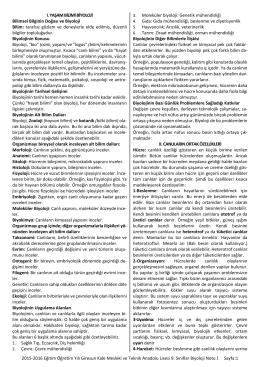 2015-2016 biyoloji 9 notları 1 - Giresun Kale Mesleki ve Teknik