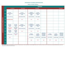 İşletme Bölümü Haftalık Ders Programı
