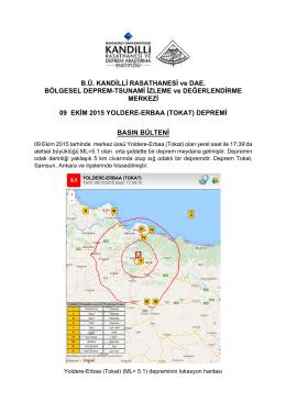 İndir  - Kandilli Rasathanesi ve Deprem Araştırma