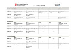 2015-16 güz vize programı
