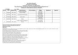 Din Öğretimi Haziran 2015 Dönemi Mesleki Çalışma Programı