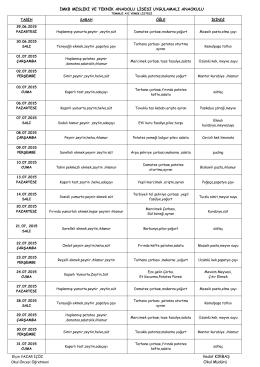 temmuz ayı yemek listesi - Karacabey İMKB Kız Teknik ve Meslek