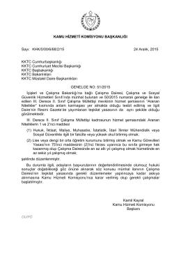 GENELGE DÜZELTME 51 İçişleri ve Çalışma Bakanlığı çalışma