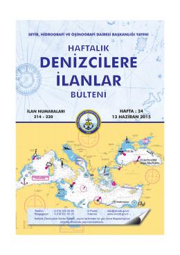 Haziran 2015 - Seyir Hidrografi ve Oşinografi Dairesi Başkanlığı