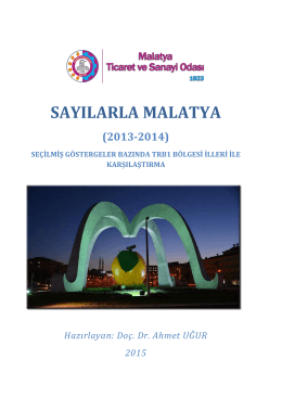 Rakamlarla Malatya - Malatya Ticaret Sanayi Odası