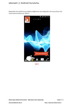 eduroam || Android Kurulumu