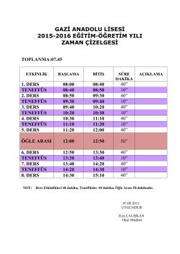 gazi anadolu lisesi 2015-2016 eğitim