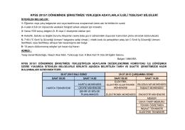 kpss 2015/1 döneminde şirketimize yerleşen adaylarla ilgili