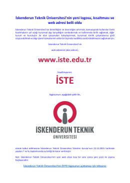 İskenderun Teknik Üniversitesi`nin yeni logosu, kısaltması ve web