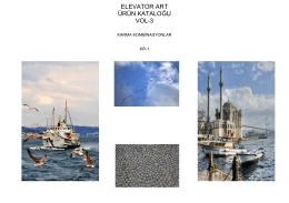 ELEVATOR ART ÜRÜN KATALOĞU VOL-3