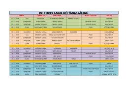 2015-2016 kasım ayı yemek listesi