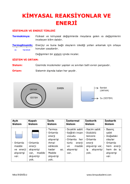 Kimyasal Reaksiyonlarda Enerji