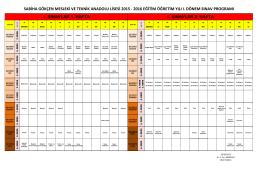 2015-2016 1. dönem 1. ortak sınav takvimi - TEPEBAŞI