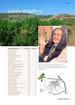 Aliağa Bozköy Ağaçlandırma Projesi