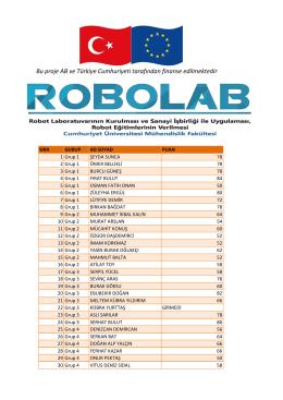 Robolab_Sinav_Sonucu - Cumhuriyet Üniversitesi – ROBOLAB