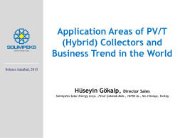 PV/T collector - Solarex İstanbul