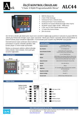 alc44 ölçükontrolcihazları - ATEK Elektronik Sensör Teknolojileri