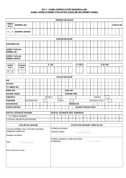 İstifa Formu