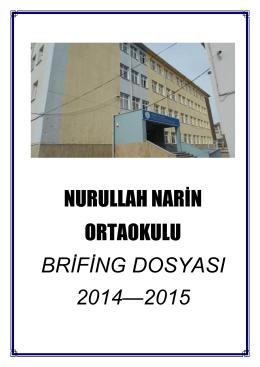 Brifing Dosyası - TEKİRDAĞ / ÇERKEZKÖY