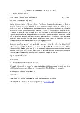 İstanbul Kalkınma Ajansı Staj Pro - İstanbul Yeni Yüzyıl Üniversitesi