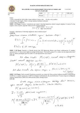Vize-II Sınavı Soruları ve Cevapları