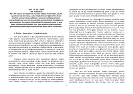 1 TÜRK KÜLTÜR TARİHİ Final Ders Notları NOT
