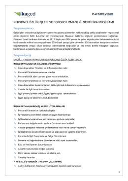 personel özlük işleri ve bordro uzmanlığı sertifika programı