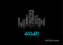 2015 Ürün Listesi - Assan Elektronik