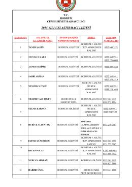 2015 yılı uzlaştırmacı listesi
