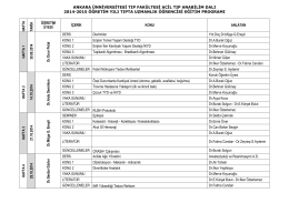 Acil Tıp A.D. 2014-2015 T U Ö Eğitim Programı