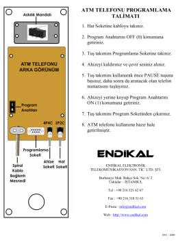atm telefonu - ENDİKAL ELEKTRONİK