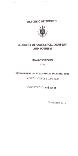 republic of burundi ministry of commerce, industry and tourism