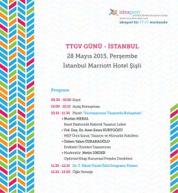 TTGV GÜNÜ - İSTANBUL 28 Mayıs 2015, Perşembe İstanbul