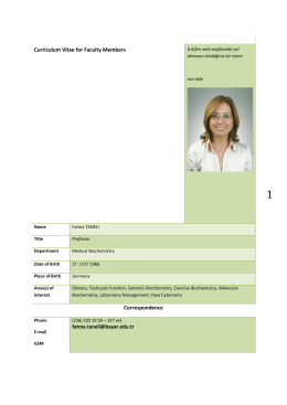 Dr. Fatma TANELİ, MD, Professor