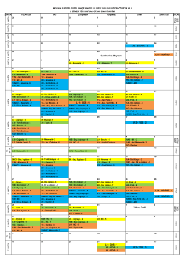 anadolu lisesi ortak sınav takvimi -1.dönem