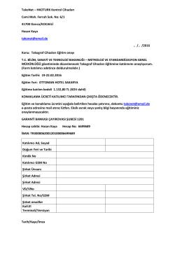 TakoNet – HKOTURK Kontrol Cihazları Cami Mah. Ferruh Sok. No