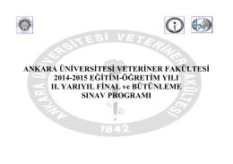 2014&2015 Eğitim Öğretim Yılı II. Yarıyıl (Bahar)