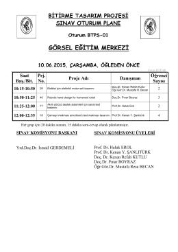 GÖRSEL EĞİTİM MERKEZİ - İTÜ Makina Fakültesi | Control Panel