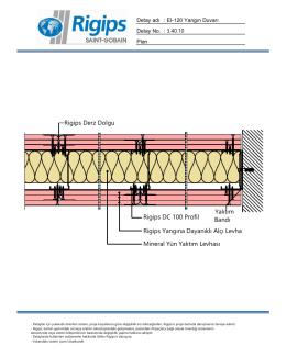 Rigips Derz Dolgu Rigips DC 100 Profil Rigips Yangına Dayanıklı
