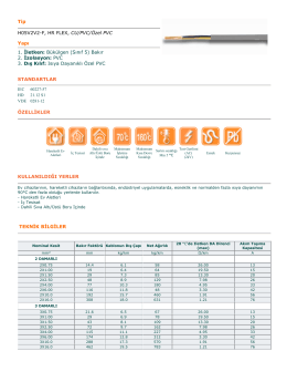 Tip H05V2V2-F, HR FLEX, CU/PVC/Özel PVC Yapı 1. Đletken